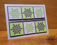 A fun and fresh color combination for Christmas in July by Merit Brown, Independent Demonstrator for Stampin' Up!®