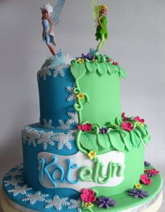 Tinkerbell And Periwinkle Cupcake Cake