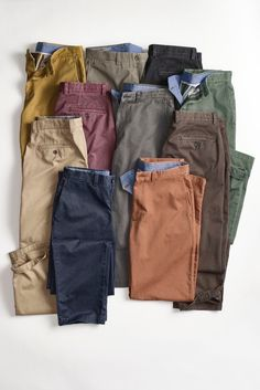 Different chino hues