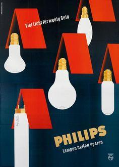 Philips Lampen; Ernst Fuhrherr / Atelier Graphisches Büro, 1956