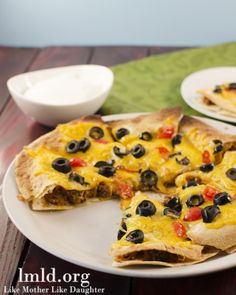 This Mexican Pizza makes a delicious and super easy dinner!. #lmldfood