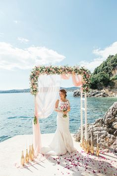 Have you ever thought of having a destination wedding or elopement in Greece? Maria and Hani chose the picturesque island of Corfu for their gorgeous September elopement. Corfu Wedding, Wedding Isles, Santorini Wedding, Greece Wedding, Wedding Beauty, Dream Wedding, Destination Wedding Invitations, Destination Weddings, Wedding Planning