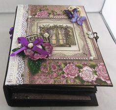 Scrapbooking Album, Our Love, Decorative Boxes, Etsy, Home Decor, Pictures, Paper, Handmade Photo Album, Small Windows