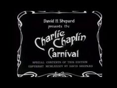 Carnival 1917 – Movies From The Silent Era