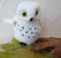 Wool Snowy Owl Stuffed Animal Fiber Art Toy by WeeThingsFiberArts