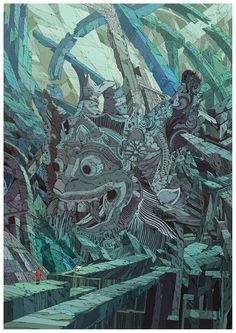 "dwdesign: "" White monkey ruins (Hanuman ruins). By Kilian Eng """