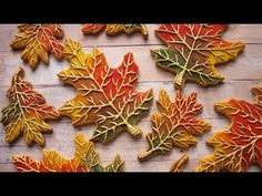 How To Decorate Cookies To Look Like Fall Leaves! - YouTube