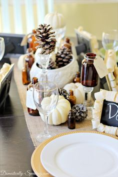 How to create Thanksgiving Tablescape ~ easy fall vignette