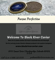 Black River Caviar - The first and only brand of Oscietra Malossol produced in the southern hemisphere.