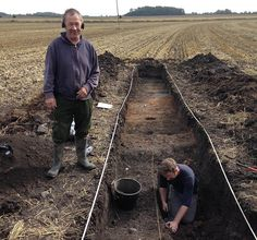 Liason officer Adam Daubney and metal detectorist Graham Vickers have discovered a 'significant' archaeological site