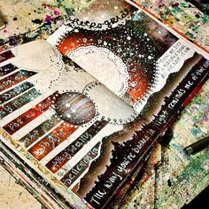 Mixed media art journal pages by jenndalyn art - mixed media Art Journal Pages, Journal D'art, Sketchbook Pages, Art Journals, Journal Ideas, Sketchbook Ideas, Sketchbook Assignments, Travel Journals, Fashion Sketchbook