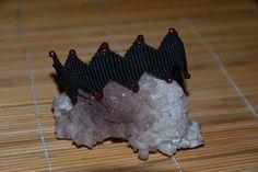 Black Macrame Bracelet with Agate Stones Handmade by alsoljewels