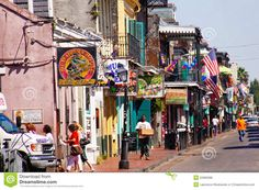 New Orleans Bourbon Street In Daylight Editorial Photo - Image: 22965996