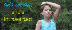 She's not shy; She's introverted « How about your child?  (Introversion is related to energy - what drains or energizes you.)