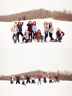 Senior girl pose, group shoot, group pose, best friend session, winter glam session, snow session, dance team, dance squad, dancers http://kerihamiltonphotography.com http://instagram.com/kerihamiltonphotography http://facebook.com/kerihamiltonphotography