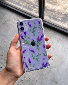 Hand-painted Lavender iPhone 11 case