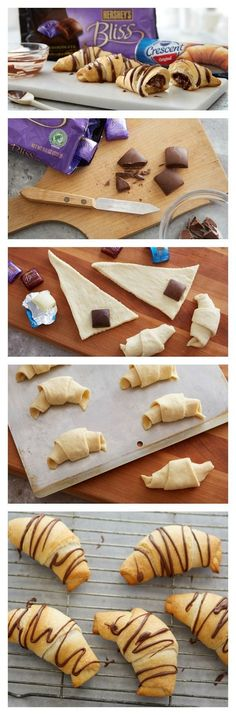 Chocolate Filled Crescents Rolls Recipe - never thought to make sweet crescent rolls before