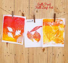 DIY Gelli Printed Fall Art @savedbyloves