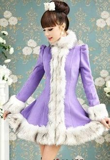 Violet Winter Coat/Dress! don't know where i would wear this... but what the heck?