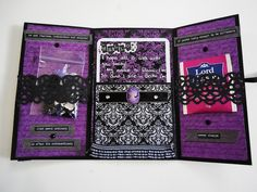 Gothic snail mail booklet Mein Hobby, Diys, Snail Mail Pen Pals, Diy Crafts For Girls, Paper Crafts Origami, New Baby Cards, Pocket Letters, Happy Mail, Letter Writing