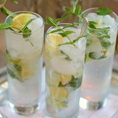 Prosecco cocktails do not get any fresher than this contemporary take on the classic Mojito. You'll need to prepare the mint syrup at least an hour before you plan to serve these.