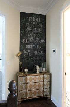 New Chalkboard Wall Art for the New Year (with a Free Printable!) Psalms 16:11