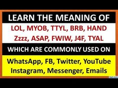 Learn Social Media Language   Common Social Media Abbreviations   Social Media Acronyms - YouTube Fluent English, Learn English, Grammar For Kids, English Speaking Practice, Learning Channel, English Course, Grammar Lessons, Communication Skills, Meant To Be