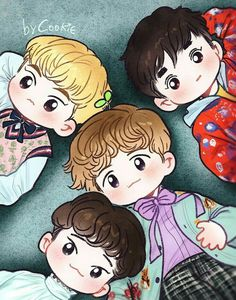 Vogue by cookieee on FanBook Chanbaek Fanart, Kpop Fanart, Kpop Exo, Exo Cartoon, Exo Stickers, Chibi, Exo Anime, Exo Fan Art, Kpop Drawings