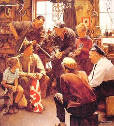 """Homecoming Marine"", 1945, Norman Rockwell."