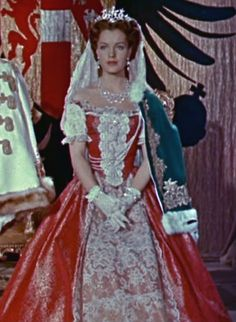 Romy Schneider as Sissi (2, 1956) request to become queen of Hungary.