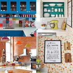 4 ideias simples para deixar a sua cozinha mais colorida! - Acessórios e objetos decorativos. Confira no Link!