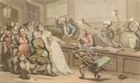 'The Lottery Office' English Dance of Death, Thomas Rowlandson, 1814 Dance Of Death, Flora And Fauna, Medieval, Turkey, English, Painting, Turkey Country, Painting Art, Mid Century