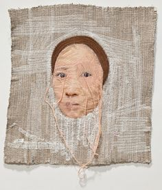Korean artist Yoon Ji Seon creates self-portraits by intricately stitching photographs with a sewing machine. She stitches over her face and particularly her mouth, often leaving only the eyes untouched …