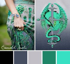 Try this shimmering Emerald Jewels color scheme out on your embroidery designs. Paint Schemes, Colour Schemes, Color Combos, Color Patterns, Color Trends, Colour Pallette, Color Palate, World Of Color, Color Of Life