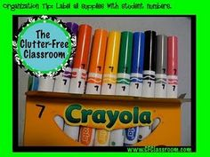 Clutter-Free Classroom Organization Tip: Numbering Student supplies - each student has a ziplock bag with their name on it. Teacher stores it - when supplies run low, send it home for parents to replenish the items. School Supplies Organization, Organization And Management, Classroom Supplies, Teacher Organization, Kindergarten Classroom, School Classroom, Organization Hacks, Classroom Ideas, Classroom Management