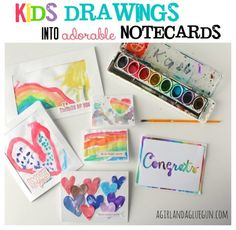 kids drawings to fun cards submitted to InspirationDIY.com