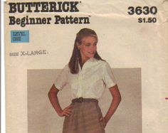 Check out Sewing Pattern for a Skirt Butterick  3630 Beginner Pattern Misses  Size X-Large on attictreasuresbyjudy