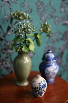 Stunning miniature vases, flowers, Josje's A Beautiful World