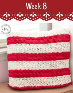 #12WeeksChristmasCAL – Holiday Striped Pillow
