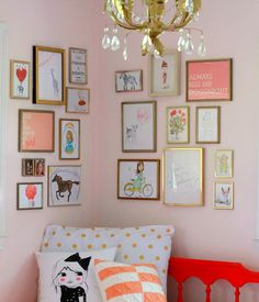 corner gallery wall: inspirations