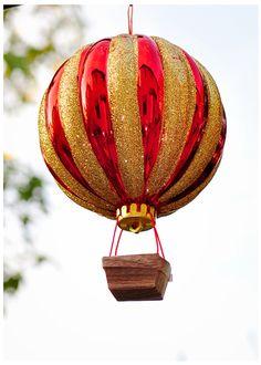 DIY Hot Air Balloon  How cute would this be in a nursery??