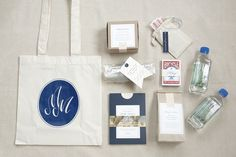 Out of Town Guest Bag  Brides are always looking for new ways to incorporate their wedding colors into the big day and we think using your wedding palette as a theme for a welcome bag is the perfect place to start!