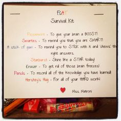 FCAT Survival Kit...Let's use this @Alli Rense Rense Rense Boudreau and @Lisa Phillips-Barton Phillips-Barton Phillips-Barton Pennington