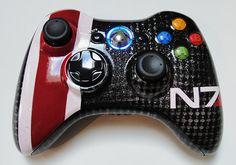 Mass Effect 3 Custom N7 Xbox 360 Controller