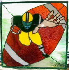 Stained Glass Denver Broncos Mascot Panel By
