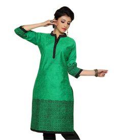 Kanchali Green Ethnic Wear Kurti, http://www.snapdeal.com/product/kanchali-green-ethnic-wear-kurti/1638875181