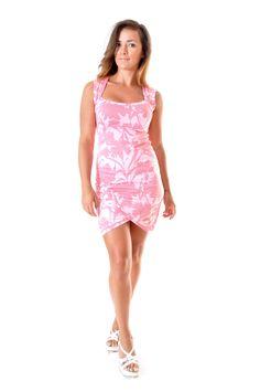 Robe courte croisée sweetheart en coton imprimé rose : Robe par gwaelonna dress / pink / ootd