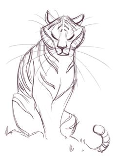 Tiger Sketch sur Pinterest | Dessin Tigre, Croquis et ...
