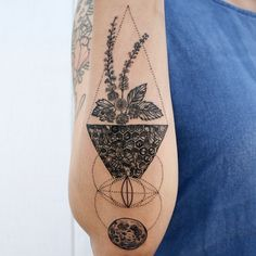 Black cohosh, honey beehive, vesica piscis sacred geometry, and full moon - concept piece for femininity.  Thanks Sham!