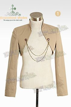 """""""Time Traveler"""" Steampunk Open Front Shrug Unisex Jacket&Chains*2colors Instant Shipping"""